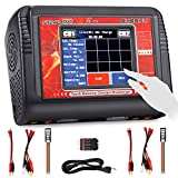 LiPo Charger Dual RC Battery Balance Charger Touch Screen Discharger Duo AC150w DC240W 10A ST240 for 1-6S Li-ion Life NiCd NiMH LiHV PB Smart Battery