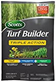 Scotts 26003 Turf Builder Triple Action Kills Weeds Including Dandelions & Clover Prevents Crabgrass 4 Months, 4M, Feeds & Fertilizes To Build Thick Green Lawns