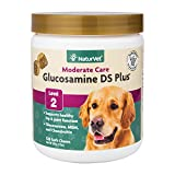 NaturVet – Glucosamine DS Plus - Level 2 Moderate Care | Supports Healthy Hip & Joint Function | Enhanced with Glucosamine, MSM & Chondroitin | for Dogs & Cats (120 Soft Chews)