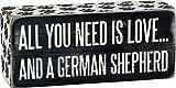 Primitives by Kathy Paw Print Trimmed Box Sign, 6' x 2.50', German Shepherd