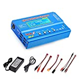 Haisito 80W 6A Lipo Charger RC Battery Balance Discharger for LiPo/Li-ion/Life Battery (1-6S), NiMH/NiCd (1-15S), Rc Hobby Battery Balance Charger LED W/AC Power Adapter