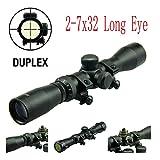 TACFUN - Field Sport Long Eye Relief Scout Scope 2-7X32 w/Weaver Scope Rings
