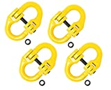 Mytee Products (4 Pack) 3/8' Grade 80 Coupling Link, Hammerlink, Hammer Lock Chain Connector