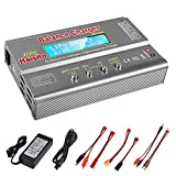 Lipo Charger H B6 RC Charger LiPo Battery Balance RC Car Charger Discharger for LiPo/Li-ion/Life Battery(1-6s) NiMH/NiCd (1-15s) RC Hobby Battery Balance Charger 80W 6A XT-60/JST/Deans Connectors