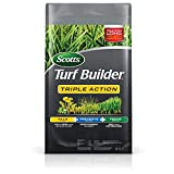 Scotts Turf Builder Triple Action - Weed Killer & Preventer, Lawn Fertilizer, Prevents Crabgrass, Kills Dandelion, Clover, Chickweed & More, Covers up to 4,000 sq. ft, 20 lb.