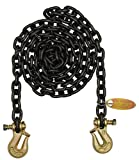 Chain, Grade 80, 3/8 Size, 10 ft, 7100 lb.