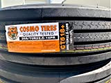 Set of 6 (SIX) Cosmo CT518 Plus Commercial Radial Tires-255/70R22.5 140/137L LRH 16-Ply