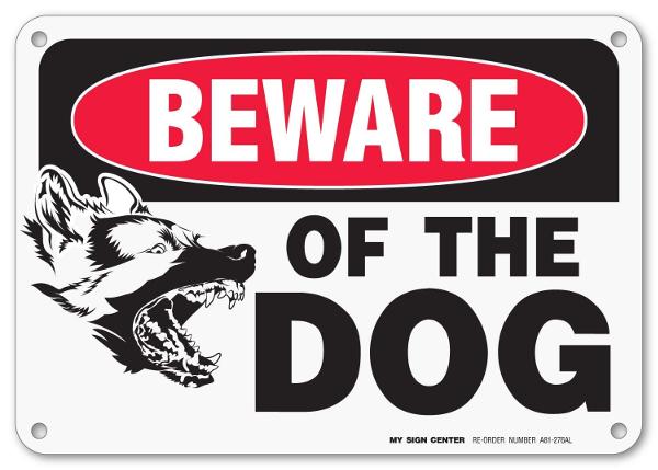 german shepherd warning sign